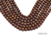 Wholesale 9.5mm Round Golden Coral Beads Loose String