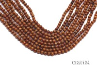 Wholesale 5mm Round Golden Coral Beads Loose String