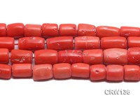 Wholesale 12x17mm Pillar-shaped Orange Coral Beads Loose String
