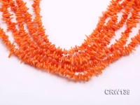 Wholesale 3x8mm Irregular Orange Coral Chips Loose String