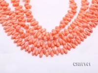 Wholesale 6x10mm Rice-shaped Pink Coral Beads Loose String
