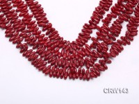 Wholesale 4x11mm Rice-shaped Red Coral Beads Loose String