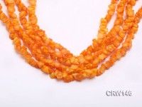 Wholesale 8x6mm Flower-shaped Orange Coral Beads Loose String