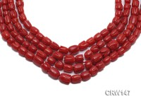 Wholesale 4×5-7x8mm Irregular Red Coral Beads Loose String