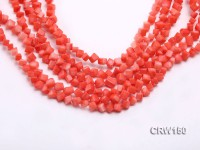 Wholesale 6mm Cubic Pink Coral Beads Loose String