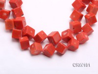 Wholesale 19mm Cubic Orange Coral Beads Loose String
