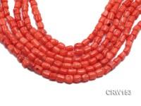 Wholesale 7x9mm Irregular Orange Coral Beads Loose String