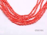 Wholesale 4x8mm Irregular Orange Coral Beads Loose String