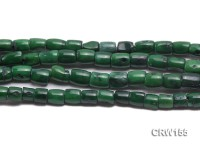 Wholesale 8x10mm Pillar-shaped Green Coral Beads Loose String