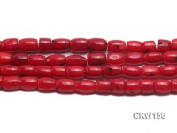 Wholesale 7x9mm Pillar-shaped Red Coral Beads Loose String