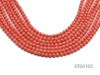 Wholesale 6mm Lantern-shaped Pink Coral Beads Loose String