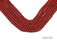 Wholesale 6mm Lantern-shaped Red Coral Beads Loose String