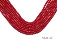 Wholesale 5mm Round Red Coral Beads Loose String