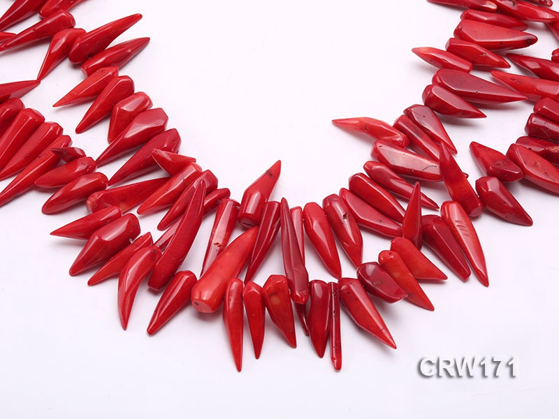 Wholesale 9-35mm Chili-shaped Red Coral Sticks Loose String