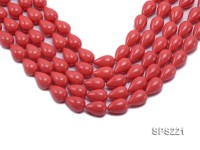 Wholesale 12x18mm Pink Drop-shaped Seashell Pearl String