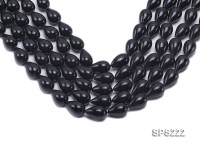 Wholesale 12x18mm Black Drip-shaped Seashell Pearl String