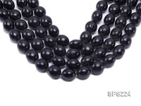 Wholesale 16x20mm Black Oval Seashell Pearl String