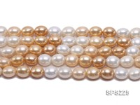 Wholesale 13x15mm Multi-color Oval Seashell Pearl String