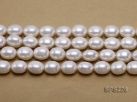 Wholesale 14x19mm White Oval Seashell Pearl String