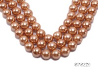 Wholesale 20mm Golden Round Seashell Pearl String
