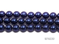 Wholesale 20mm Dark Blue Round Seashell Pearl String