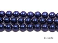 Wholesale 20mm Dark Blue Round Seashell Pearl String