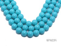 Wholesale 20mm Sky-blue Round Seashell Pearl String