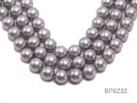 Wholesale 20mm Silver Grey Round Seashell Pearl String