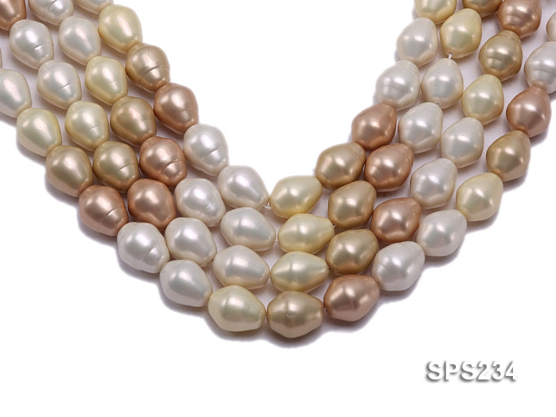 Wholesale 17x20mm Multi-color Oval Seashell Pearl String
