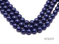 Wholesale 18mm Deep Blue Round Seashell Pearl String