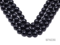 Wholesale 18mm Black Round Seashell Pearl String