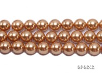 Wholesale 18mm Golden Round Seashell Pearl String