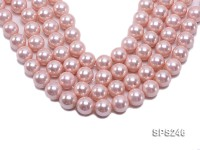 Wholesale 18mm Pink Round Seashell Pearl String