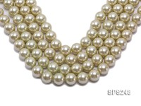 Wholesale 16mm Round Olive Seashell Pearl String
