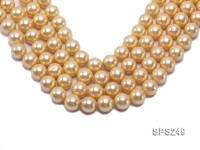 Wholesale 16mm Round Yellow Seashell Pearl String