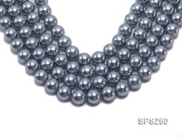 Wholesale 16mm Round Blue Grey Seashell Pearl String