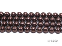 Wholesale 16mm Round Coffee Black Seashell Pearl String