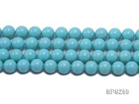 Wholesale 16mm Round Sky-blue  Seashell Pearl String