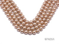 Wholesale 14mm Round Golden Seashell Pearl String