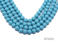 Wholesale 14mm Round Sky-blue Seashell Pearl String