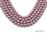 Wholesale 14mm Round Lavender Seashell Pearl String