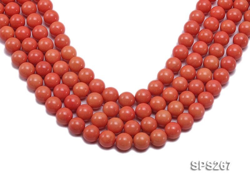 Wholesale 14mm Round Orange Seashell Pearl String