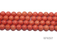 Wholesale 14mm Round Orange Seashell Pearl String
