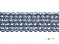 Wholesale 12mm Round Blue Grey Seashell Pearl String