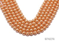 Wholesale 12mm Round Orange Seashell Pearl String