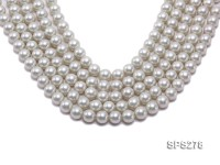Wholesale 12mm Round Silver Grey Seashell Pearl String