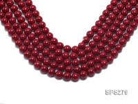 Wholesale 12mm Round Red Seashell Pearl String