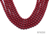 Wholesale 10mm Round Red Seashell Pearl String