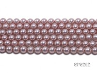 Wholesale 10mm Round Lavender Seashell Pearl String