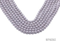 Wholesale 8mm Round Lavender Seashell Pearl String